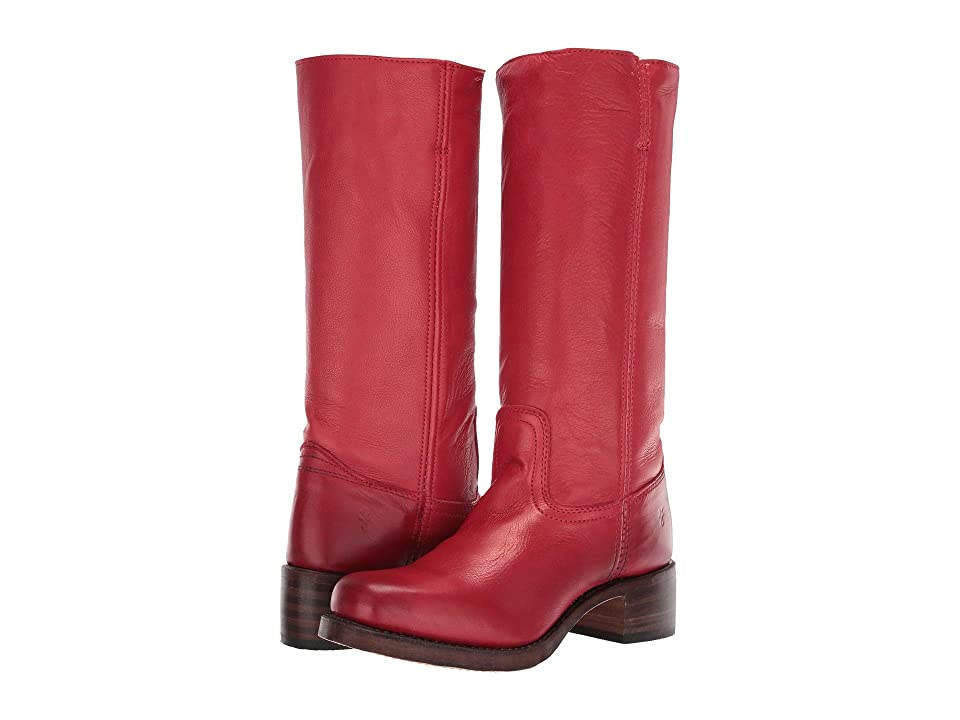 Frye Campus 14L (Burnt Red Polished Soft Full Grain) Cowboy Boots