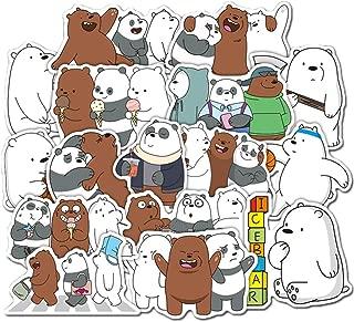 36 Pcs Cartoon We Bare Bears Cute Bears Stickers Little Bear Sticker PVC Waterproof Graffiti Sticker for Laptop Luggage Toy Car