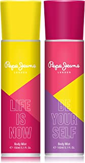 Pepe Jeans London Life Is Now Be Your Self Women Body Mist 150ml (Pack Of 2)