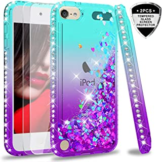 iPod Touch 7 Case, iPod Touch 6 Case, iPod Touch 5 Case with Tempered Glass Screen..
