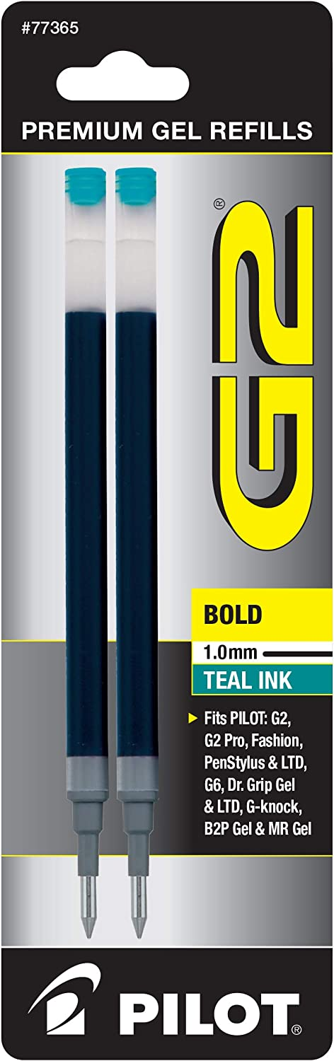 PILOT G2 Gel Ink Refills For Pens Limited price sale Point Direct stock discount Rolling Bold Ball Teal