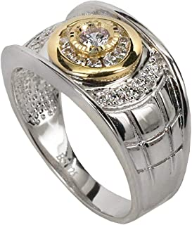 Solid 925 Sterling Silver Mens Ring - Iced Out Mens Pinky Ring - Sizes 7-13 ICY Hip Hop Ring