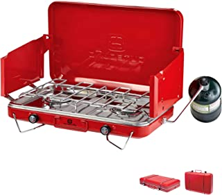 Outbound Camping Stove | Portable Propane Gas Stove 2 Burners | Perfect Camp Stove for Backpacking, Camping, Fishing, and Outdoor Cooking…