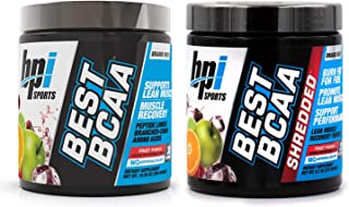 BPI Sports Muscle Recovery & Weight Loss Branched Chain Amino Acid Stack - Best BCAA (30 Servings) and Best BCAA Shredded (25 Servings) (Fruit Punch)