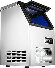 VEVOR 230W 220V Machine à Glaçons Commerciale 50kg par 24H Ice Maker pour les applications, y compris les cafés, les fête...