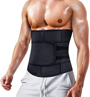 MOLUTAN Men Waist Trainer Trimmer for Weight Loss Tummy Control Compression Shapewear Sweat Belt Body Shaper