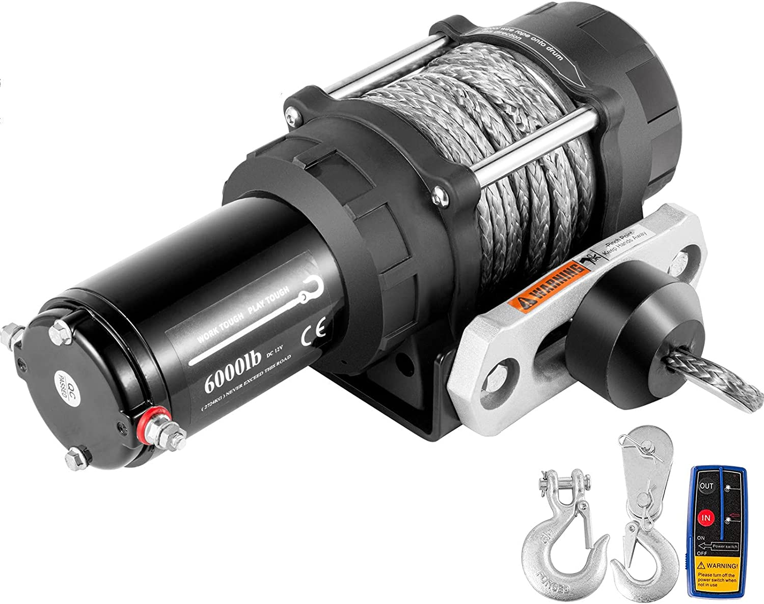 VEVOR Electric Winch 6000lb Sales of SALE Max 52% OFF items from new works Load W Truck Rope Capacity Synthetic
