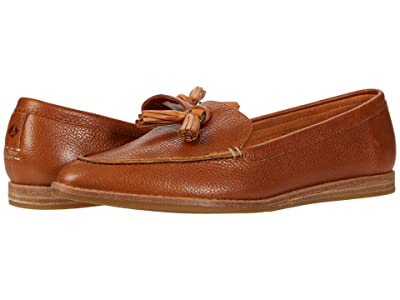 Sperry Saybrook Slip-On Tumbled Leather (Tan) Women