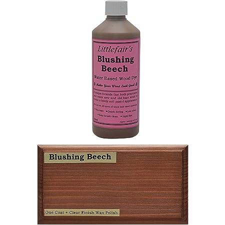 Tinte para madera a base de agua de Littlefairs, respetuoso con el medio ambiente, Haya rubor, 500 ml