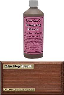 Tinte para madera a base de agua de Littlefair's, respetuoso con el medio ambiente, Haya rubor, 500 ml