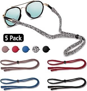 EnriQ Sunglass Straps Eyeglass Straps Floating Neoprene Eyewear Retainer Sport Glass Retainer Holder Chains Cords for Men Women (5 pack)
