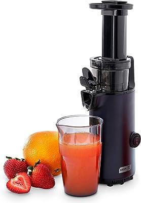 DASH DCSJ255 Deluxe, extractor de masticación lento, fácil de limpiar, prensador de frío con cepillo, taza medidora de pulpa, accesorio congelado y guía de recetas de jugo, color negro