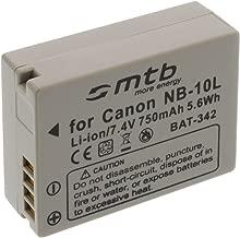 Batteria NB-10L per Canon PowerShot G15, G1X, SX40 HS, SX50 HS