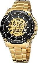 FORSINING Men's Skeletn Skull Dial Automatic Self-Wind Stainless Steel Wristwatch