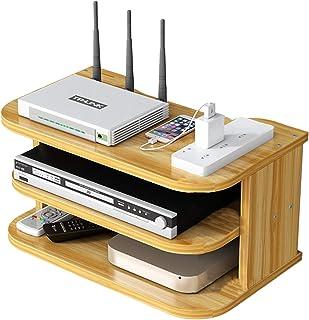 YTREDF Set Top Box Estante de Múltiples Funciones, WiFi Router Estante de Almacenamiento de Madera, para Televisión Caja C...