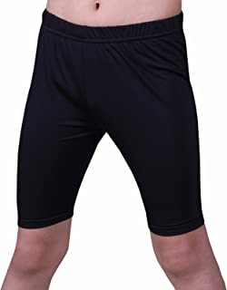 Kids Compression Shorts Underwear Youth Boys Spandex Base Layer Bottom Pants FK Black M