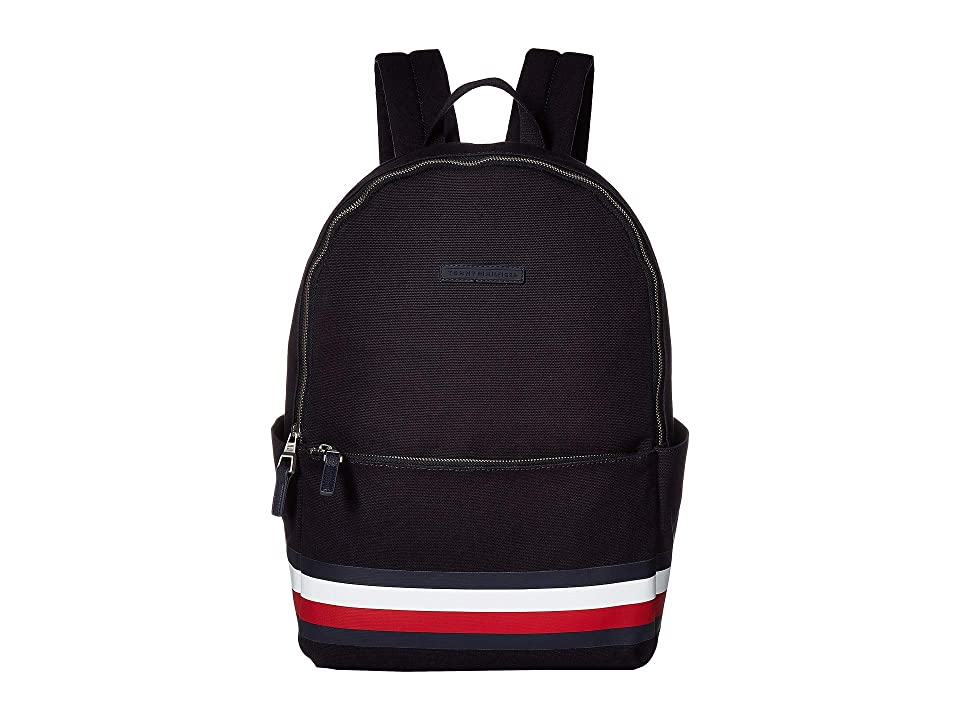 Tommy Hilfiger Stephan Corporate Stripe Canvas Backpack (Tommy Navy) Backpack Bags