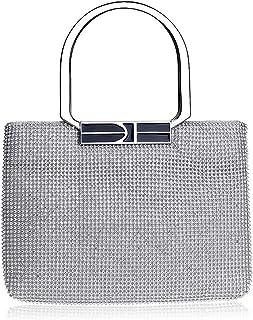 Clutch Handbag Dress Silver Wallet Rhinestone Gold Cosmetic Bag Woman Luxurious Banquet Diamond Pocket Prom Party Shiny (24×2×17cm)