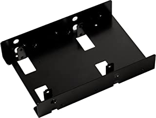 SilverStone Tek 3.5-Inch to 2 X 2.5-Inch Hard Drive HDD SSD Bay Converter, Black (SDP08B)