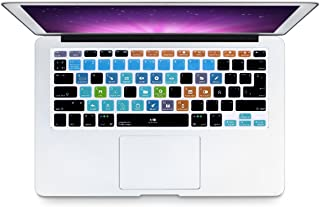 HRH Hot Key Function Shortcut Spanish Silicone Keyboard Cover Skin for Mac Air 13,MacBook Pro 13/15/17 (with or w/Out Retina Display, 2015 or Older Version)&Older iMac US/EU-FL Studio Fruity Loops