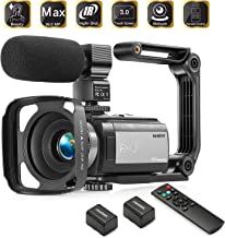 HAOHUNT Camcorder Video Vlogging HD Camera 36MP 1080P Digital Recorder, 3 Inch Touch Screen Camcorder with Rechargeable Ex...