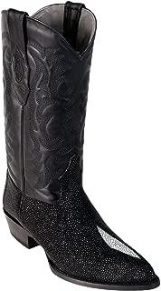 Original Black Single Pearl Stingray LeatherJ-Toe Boot
