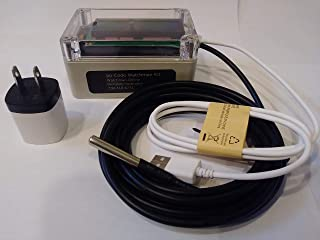 pp-Code WiFi Temperature Probe Sensor, Monitor from Anywhere with email & SMS alerts (Probe length: 1M)