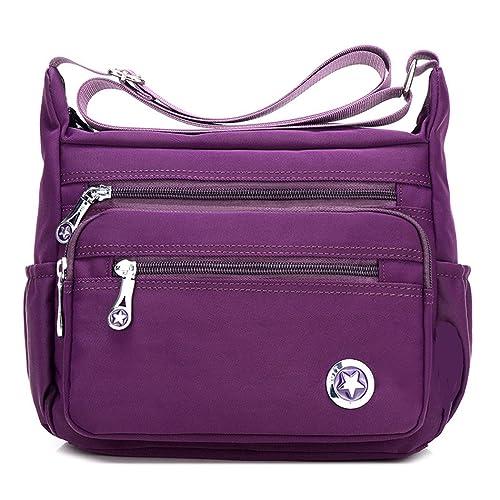 13a6c2198d53 Casual Crossbody Handbags Shoulder Bags for Women Waterproof Nylon  Messenger Bags