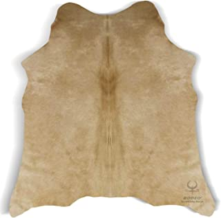 RODEO Cowhide Rug Giant Size Butter Cream 7x8 ft