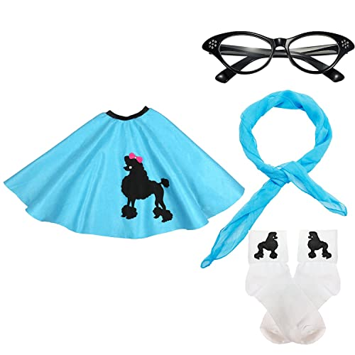 Flirtin/' with the 50/'s Poodle Skirt Costume Accessory Adult Women/'s Teal