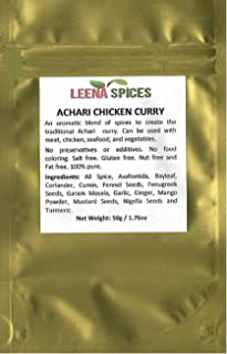 LEENA SPICES – Achari Chicken Masala - Gluten Free Spice – No Food Coloring – Indian Achar Pickled Taste - Read The Recipe Description - Enjoy Authentic And Pure Quality Products.