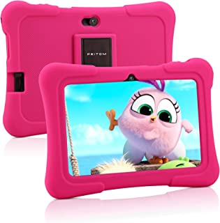 Pritom Tablet per bambini da 7 pollici, Quad Core Android, ROM da 16 GB, WiFi, Istruzione, Giochi, Controllo genitori, Sof...