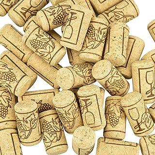 TOKINCEN 100 PCS Bouchons en Liège Naturel Bouchon de Bouteille de Vin en Bois Réutilisable pour Stockage et Scellage de V...