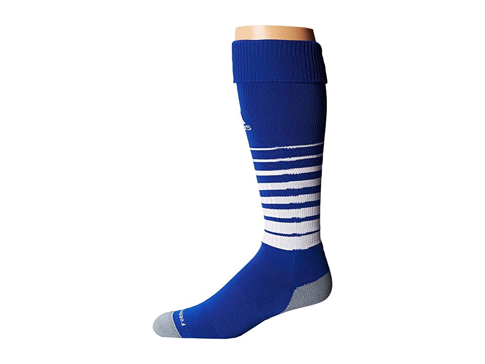 adidas Team Speed Soccer Sock (Cobalt/White) Knee High Socks Shoes