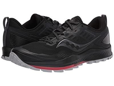 Saucony Peregrine 10 (Black/Red) Men