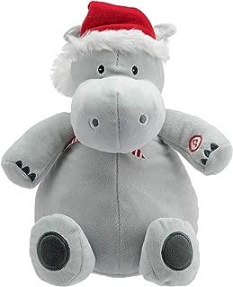 Hallmark Plush Stuffed Hippopotamus with Sound, Christmas Themed Stuffed Animal