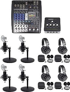 Presonus AR8 Podcast Podcasting Studio Bundle w/(4) Mics+Headphones+Desk Stands