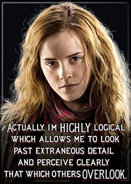 """Ata-Boy Harry Potter Hermione 'I'm Highly Logical' 2.5"""" x 3.5"""" Magnet for Refrigerators and Lockers"""