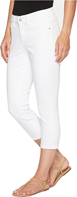 NYDJ - Alina Capris w/ Embroidery in Optic White