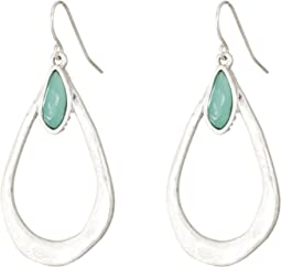 The Sak - Stone Open Teardrop Earrings