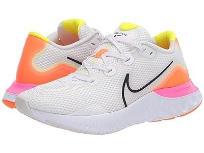 Nike Renew Run (White/Black/Platinum Tint/Pink Blast) Men