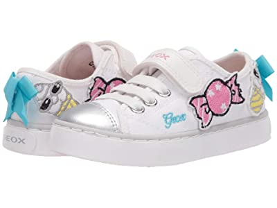 Geox Kids Ciak 72 (Toddler/Little Kid) (White) Girl