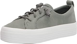 Sperry Women's Crest Vibe Platform Sneaker, Sage Lthr, 5 Medium