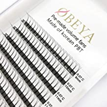 Volume Lash Extensions 3D Premade Fans 0.07 C Curl Long Stem 9-16mm Mixed Length Russian Lashes Eye Lash Extension