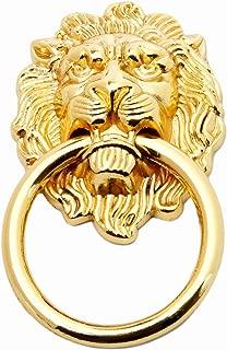 5pcs Gold Lion Head Pulls for Dresser, Drawer, Cabinet, Door Handles Knobs (1.97x3.54 Inch)