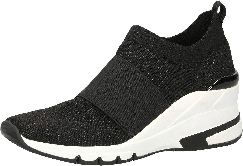 日本メーカー新品 Caprice Womens 24704 Sock 新色追加して再販 Black Trainers Sneakers
