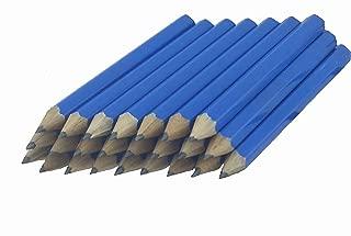 ezpencils - Sea Blue Barrel Golf (1/2 a pencil - Pew pencils) Hexagon Pencils without Eraser - 48 pkg - No Eraser - # 2 HB Lead - Sharpened - Non-Branded - NEW