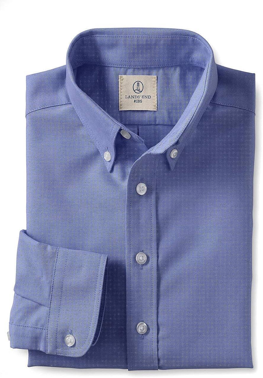 Lands' End School Uniform Little Boys Long Sleeve Oxford Dress Shirt