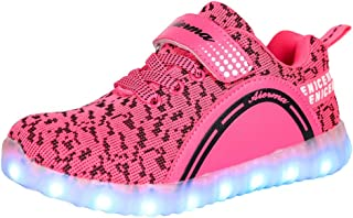 THEZX LED Light up Shoes USB Charging Flashing Sneakers for Kids Boys and Girls