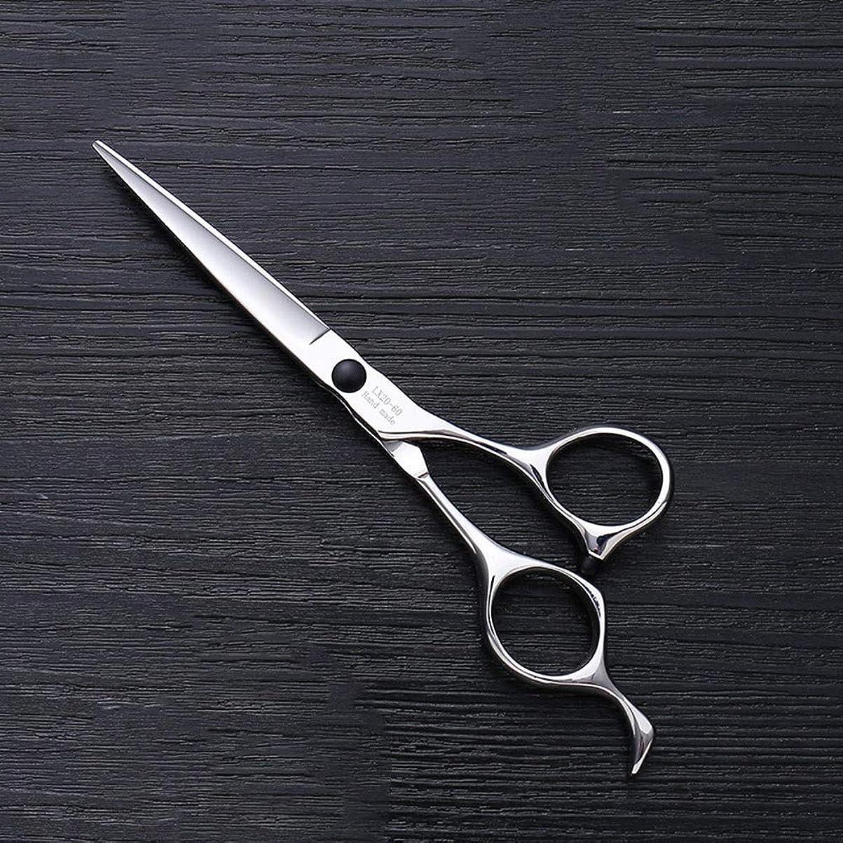よりおしゃれな虚栄心理髪用はさみ 6インチハイエンドステンレススチールバリカン、ヘアスタイリスト特別なヘアカットツールヘアカット鋏ステンレス理髪はさみ (色 : Silver)